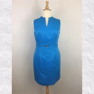 Tahari Sleeveless Notch Neck Sheath Dress